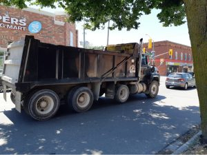 Dumptruck at King & Mill, Newcastle