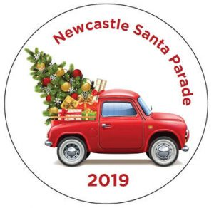 Newcastle Santa Parade button